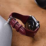 Kожаный ремешок Hoco WB05 Ocean wave для Apple Watch Series 1/2/3/4 (42/44mm) Red, фото 3