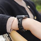 Kожаный ремешок Hoco WB05 Ocean wave для Apple Watch Series 1/2/3/4 (38/40mm) Black, фото 2