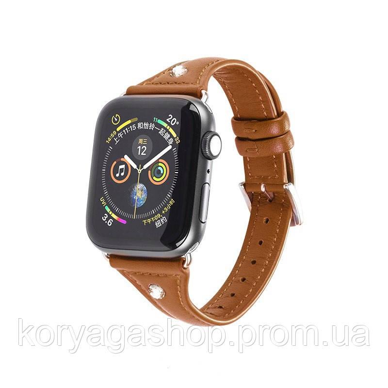 Kожаный ремешок Hoco WB05 Ocean wave для Apple Watch Series 1/2/3/4 (38/40mm) Brown