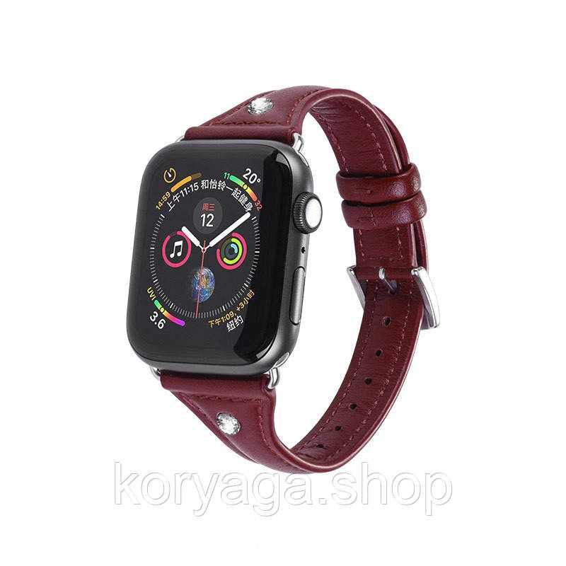 Kожаный ремешок Hoco WB05 Ocean wave для Apple Watch Series 1/2/3/4 (38/40mm) Red