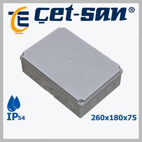 Распределительная коробка 260x180Х75 Get-san IP54 (2шт.в уп.), фото 2