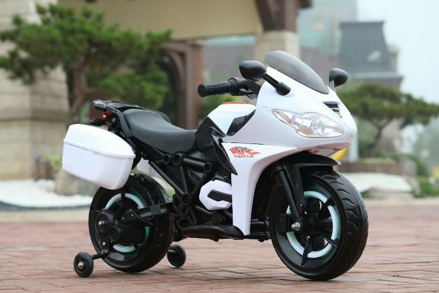 Детский мотоцикл T-7221, белый