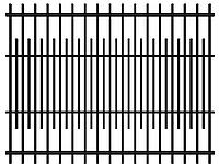 Забор из металла, 4020-4, 2500мм*2000мм
