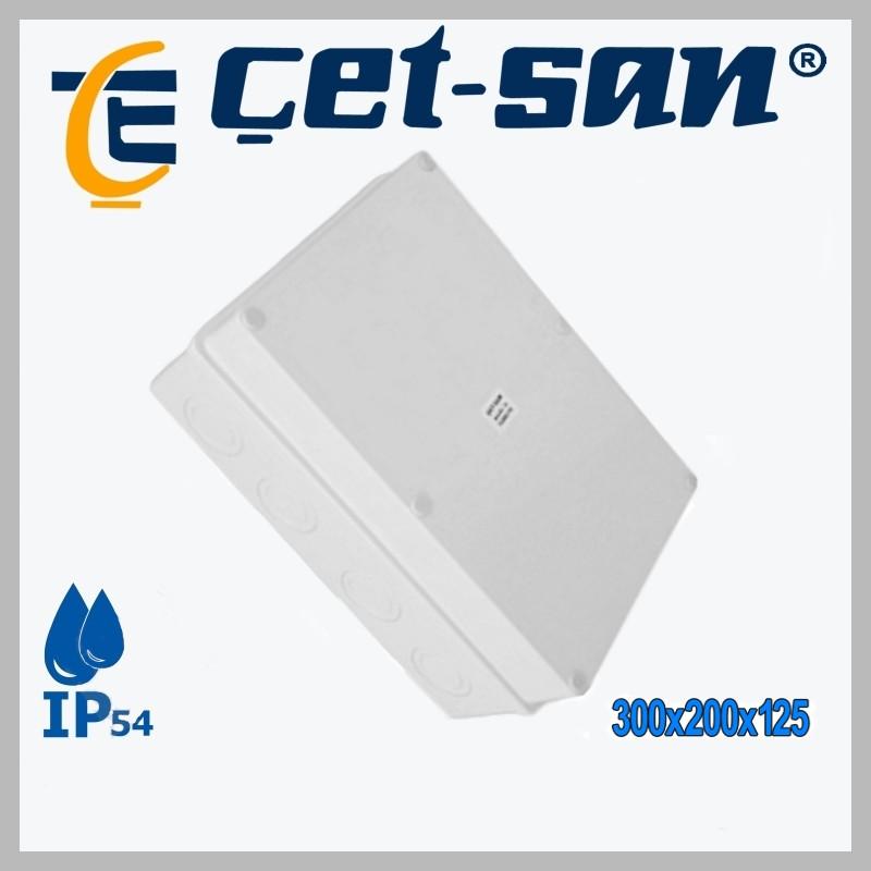 Розподільна коробка 300х200х125 Get-san IP65 (1шт.в уп.)