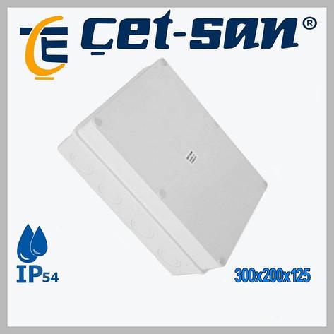 Розподільна коробка 300х200х125 Get-san IP65 (1шт.в уп.), фото 2