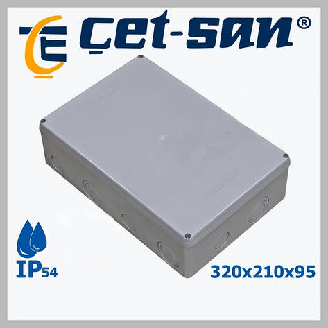 Розподільна коробка 320х210Х95 Get-san IP54, фото 2