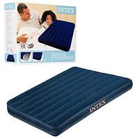 Надувной матрас-кровать Intex 68758 Велюр 191x137x22см