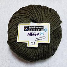 100% шерстяная пряжа Mega Schachenmayr Nomotta Германия, разные цвета, сиреневый Темно-болотный