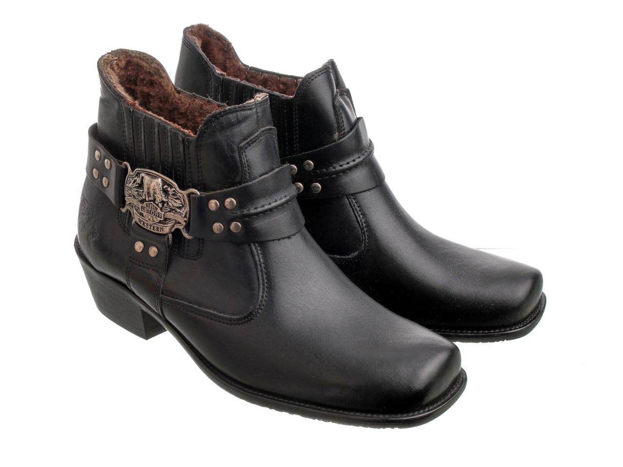 Мужские ботинки казаки Etor 66-8041 42 черные