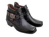 Мужские ботинки казаки Etor 66-8041 42 черные, фото 1