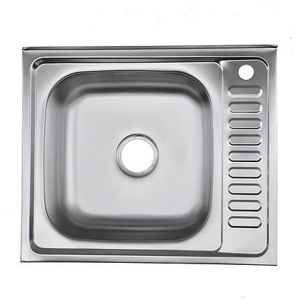 Мойка из нержавеющей стали 05мм Platinum 6050 satin, фото 2