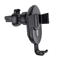 Автодержатель Hoco CW25 Delight wireless charging Black