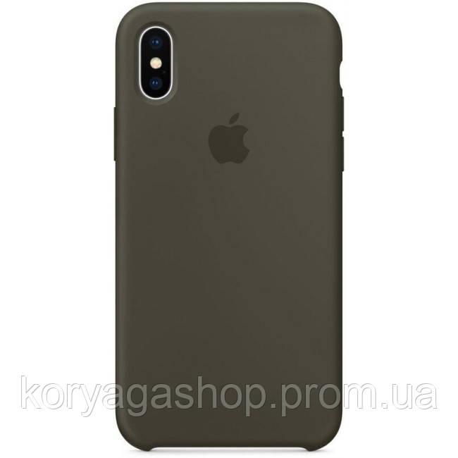 Чехол HC Silicone Case для Apple iPhone XS MAX Olive Без бренда