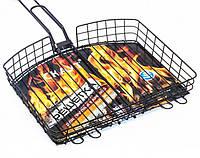 Решетка для гриля и барбекю Скаут с антипригарным покрытием 32x30,5x5.5 см