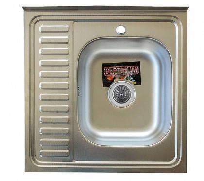 Мойка из нержавеющей стали 07мм Platinum 6060 polish, фото 2