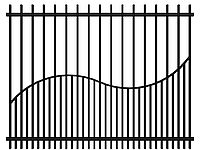 Забор из металла, 4020-5, 2500мм*2000мм