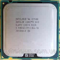 Процессор Intel Core 2 Duo E7400 2x2.8 GHz 3mb cache 1066mhz S775 бу
