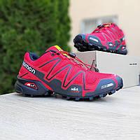 Salomon SPEEDCROSS 3 красные кроссовки мужские саломон