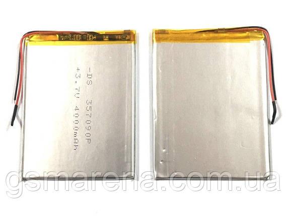 Аккумулятор универсальный 357090P 9x7cm 3.7v 3800mAh, фото 2