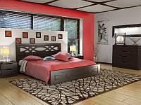 Кровать Лиана двуспальная с ортопедическими ламелями, фото 1