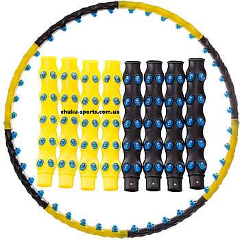 Обруч массажер хула хуп Hoop Double Grace Magnetic силиконовые подушки JS-6001