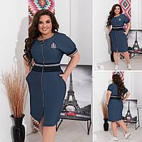 Женское платье летний джинс стильное и удобное размер: 48-50, 52-54,56-58