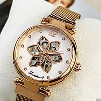 Часы наручные женские механические Forsining Бежевые