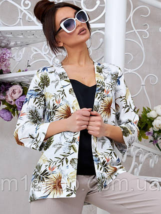 Женский летний льняной кардиган с цветочным принтом (1336.4052-4048-4050 svt), фото 2