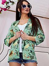 Женский летний льняной кардиган с цветочным принтом (1336.4052-4048-4050 svt), фото 3