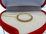 Кольцо золотое с цирконием, фото 2