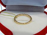 Кольцо золотое с цирконием, фото 3