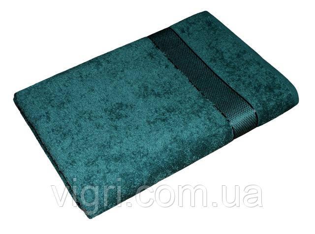 Полотенце махровое Азербайджан, 70х140 см., изумруд