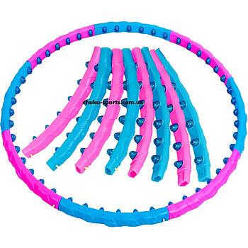 Обруч-массажер хула-хуп Hula Hoop DYNAMIC JIESEN HOOP (пластик, 1кг, 8 секций, d-93см) PZ-JS-6011