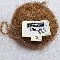 Мягкая пряжа шерсть полиамид малинового цвета Светло-коричневый