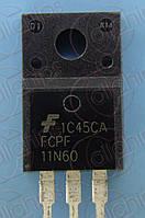 MOSFET N-канал 600В 11А 340мОм Fairchild FCPF11N60 TO220F