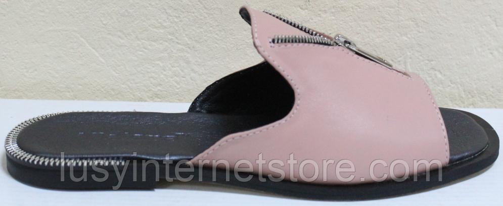 Сабо кожаные женские открытые от производителя модель СА3106