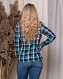 Стильная модная рубашка в клетку с длинным рукавом, три цвета р.50,52,54,56 код 5166А, фото 2