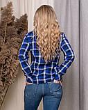 Стильная модная рубашка в клетку с длинным рукавом, три цвета р.50,52,54,56 код 5166А, фото 10