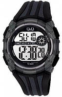 Мужские спортивные часы Q&Q M118 черные с серым