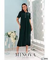 """Повседневное платье плюс сайз с верхом в стиле """"поло"""" с 50 по 58 размер, фото 1"""