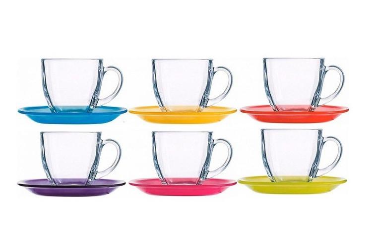 Набор чайный Luminarc Carine Rainbow на 6 персон 12 предметов