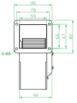 Вентилятор центробежный (радиальный) малый ВРМ 130/1, фото 3