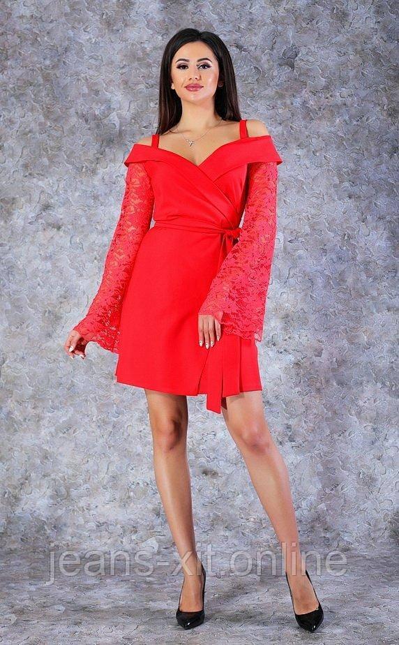 Сукня жіноча 36(р) червона 8586 Poliit Україна Весна-B