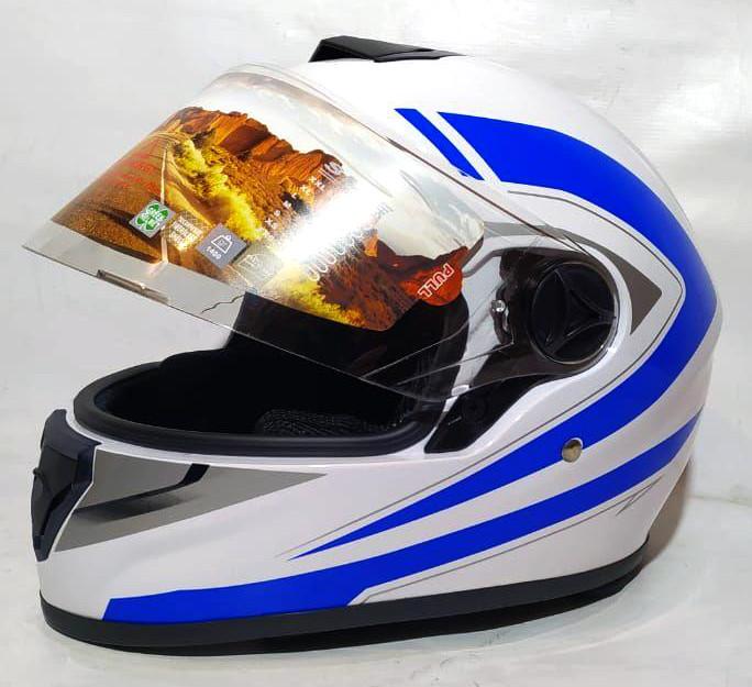 Шлем  FXW HF-112 белый с синим