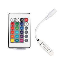 Контроллер RGB MINI PROLUM инфракрасный (IR, 24 кнопки 6A)