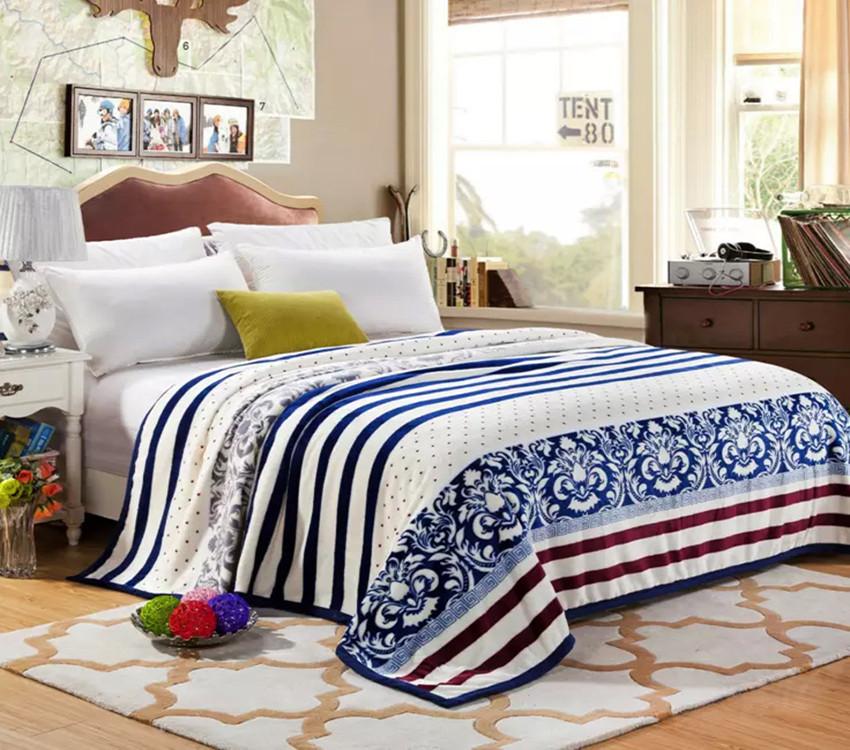 Плед покрывало 200х220 велсофт Микс на кровать, диван