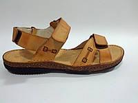 Кожаные мужские удобные стильные модные сандалии 41р