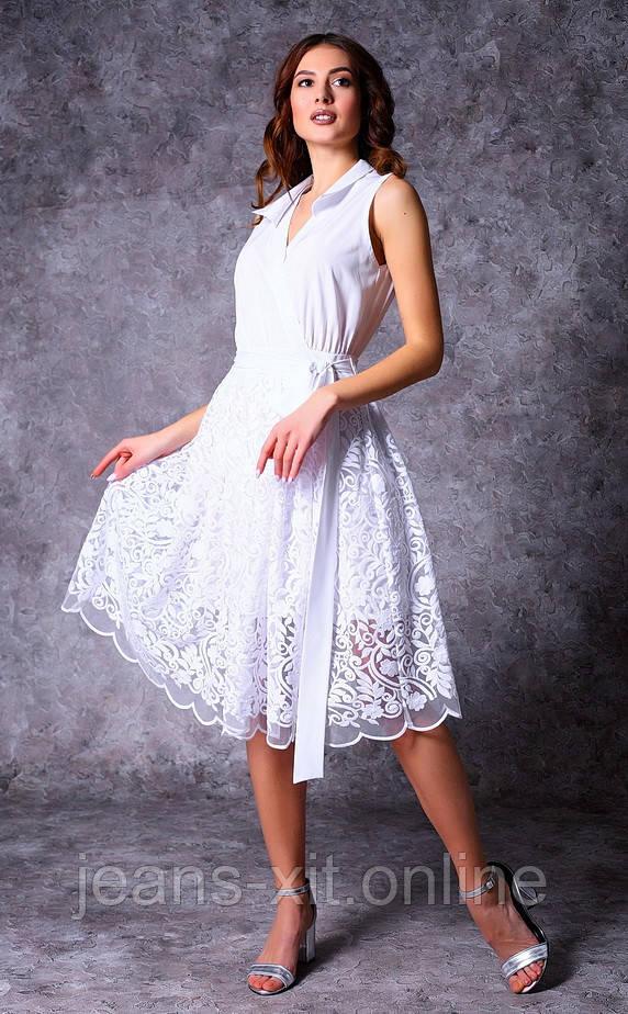 Платье женское 36(р) белое 8696 Poliit Украина Весна-C