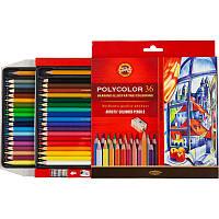 Карандаши цветные 36 шт koh-i-noor Polycolor 3835