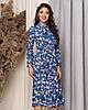 Летнее платье длиной миди с длинным рукавом из принтованной ткани, три цвета, р.42,44,46,48 код 449А, фото 4